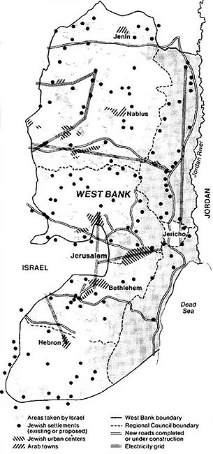 Map of Israeli Settlements