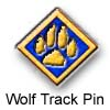 Wolf Track Pin