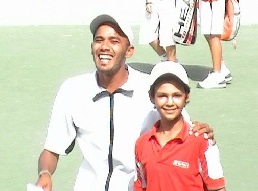 ITF/CAT 13 & under Circuit 2006 (TUNISIA) Omar with Egyptian Coach of Libyan Team Walid