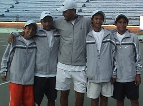 Egyptian National Team in ITF/CAT 13 & under Circuit 2006 (TUNISIA) with Coach Mohamed Ramadan Wafa